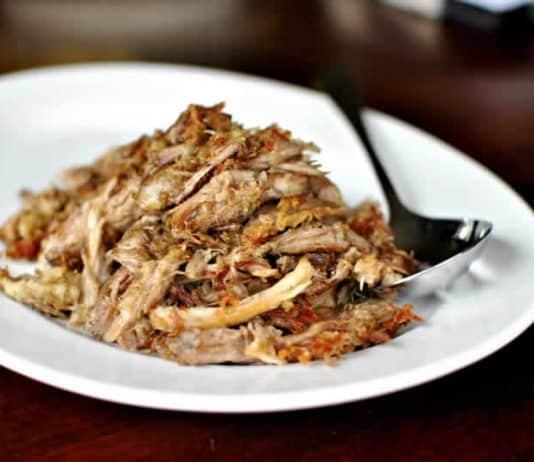 Porc carnitas - effiloché