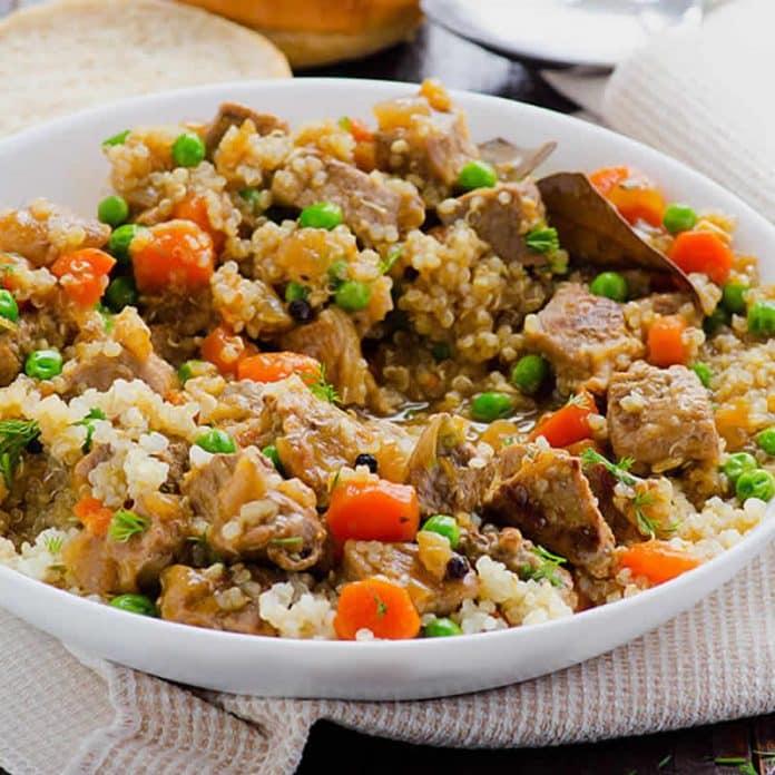 quinoa boeuf carottes petits pois cookeo