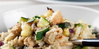 risotto de poulet courgettes cookeo