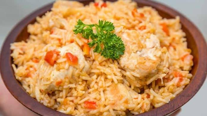 Riz au poulet et tomate au Cookeo