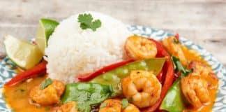 Riz aux crevettes pois et curry au Cookeo