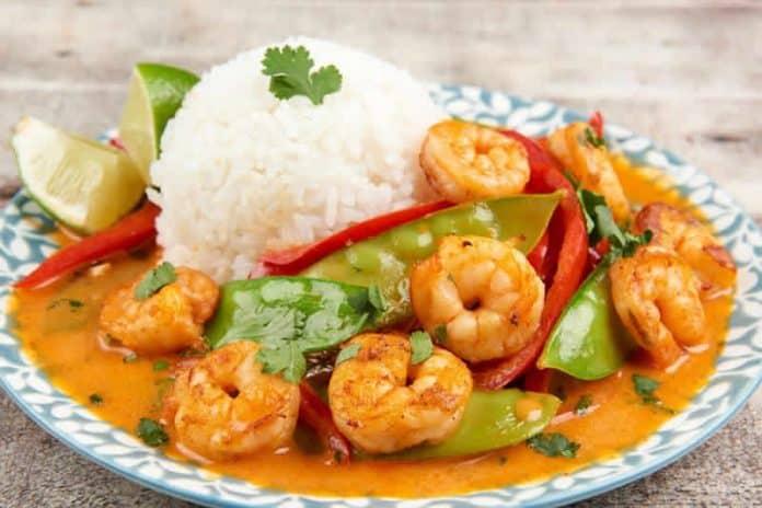riz aux crevettes pois curry cookeo