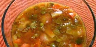 Soupe aux tomates et épinards - Weight Watchers au Cookeo