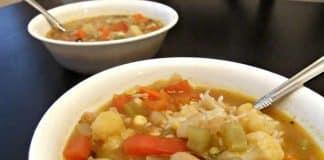 soupe de legumes riz cookeo
