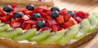 Tarte aux fraises et kiwi