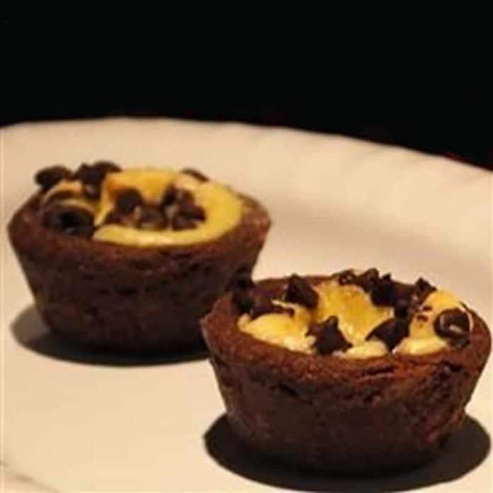 Tartelettes chocolat marbrees