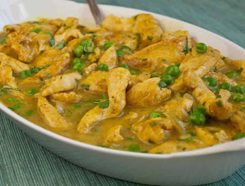 Blanquette de poulet curry cookeo - votre plat de déjeuner.