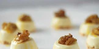 macarons à la noix de coco et panna cotta à la vanille