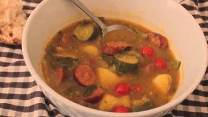 saucisses pomme de terre courgette cookeo