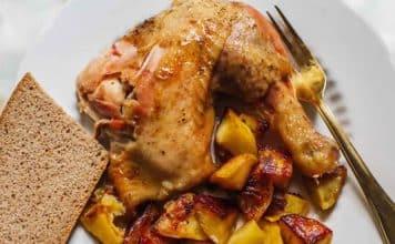 Cuisses de poulet aux pomme de terre au four