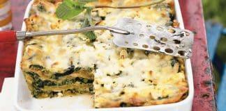 Gratin de lasagnes courgette et fromage chèvre au thermomix