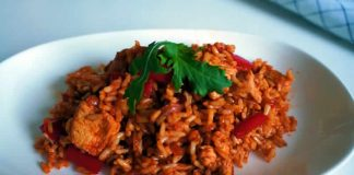 Poulet au riz et paprika au Cookeo