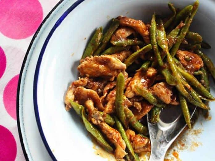 poulet aux haricots verts cookeo