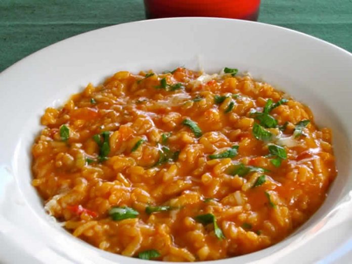risotto tomate persil cookeo