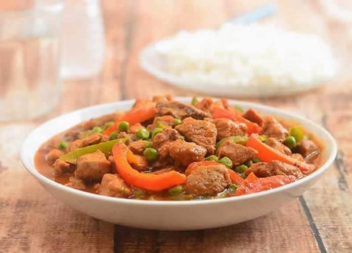 saute de porc aux legumes cookeo