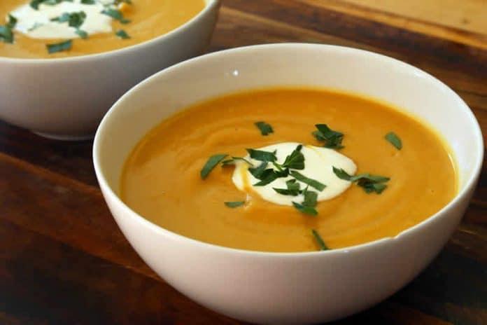 Soupe butternut et orange au thermomix
