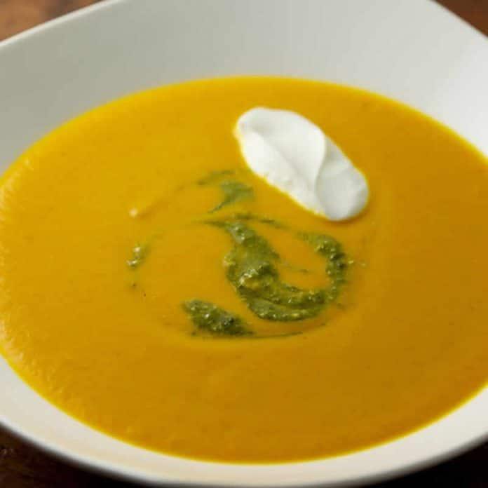 soupe de carottes lait de coco cookeo