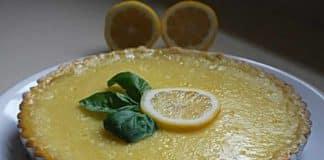 Tarte au citron et basilic au thermomix
