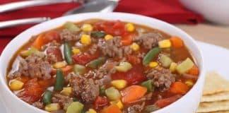 soupe de legumes viande hachee thermomix