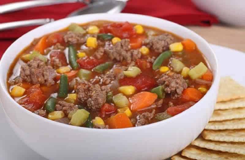 Soupe De Legumes Viande Hachee Thermomix Pour Vos Diners