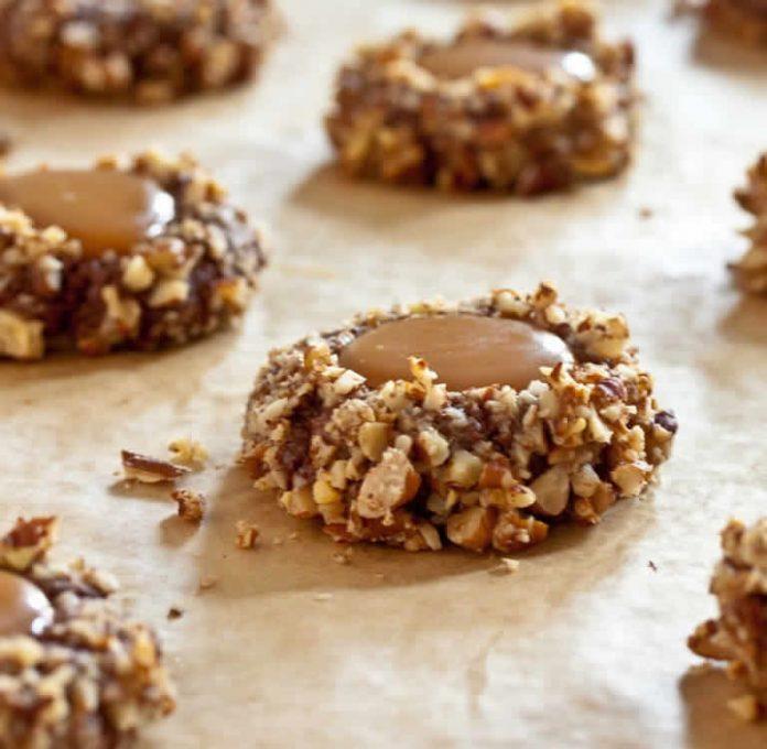 Biscuits au pacanes et caramel