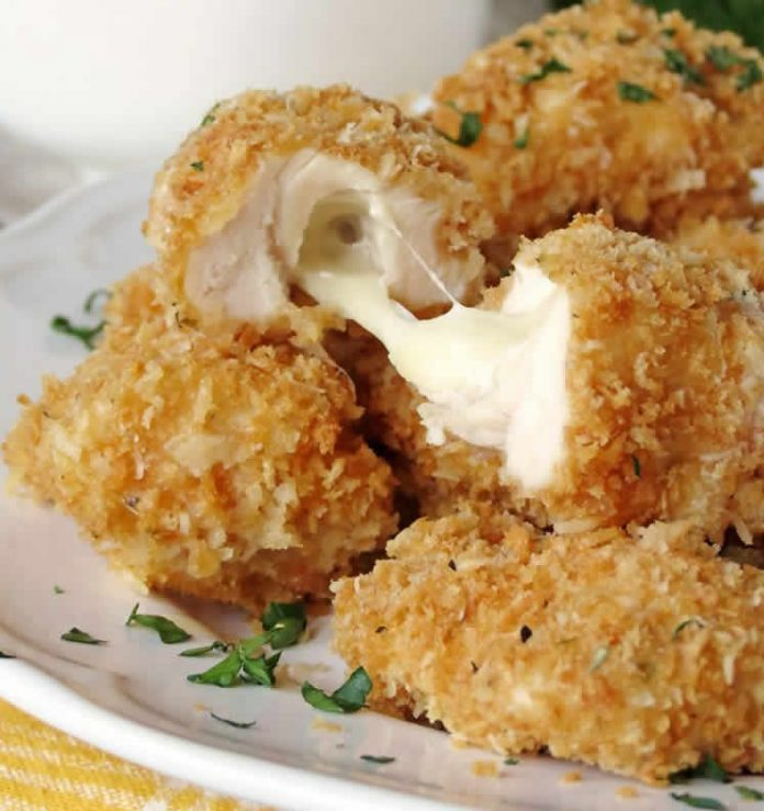 Croquette poulet au fromage fait maison