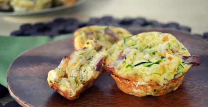 Muffins aux courgettes et bacon au thermomix