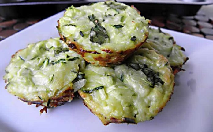 Muffins aux courgettes et fromage