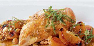 Poulet aux amandes et abricots cookeo
