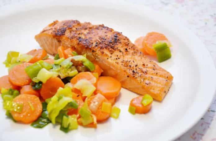 Saumon aux carottes et poireau cookeo