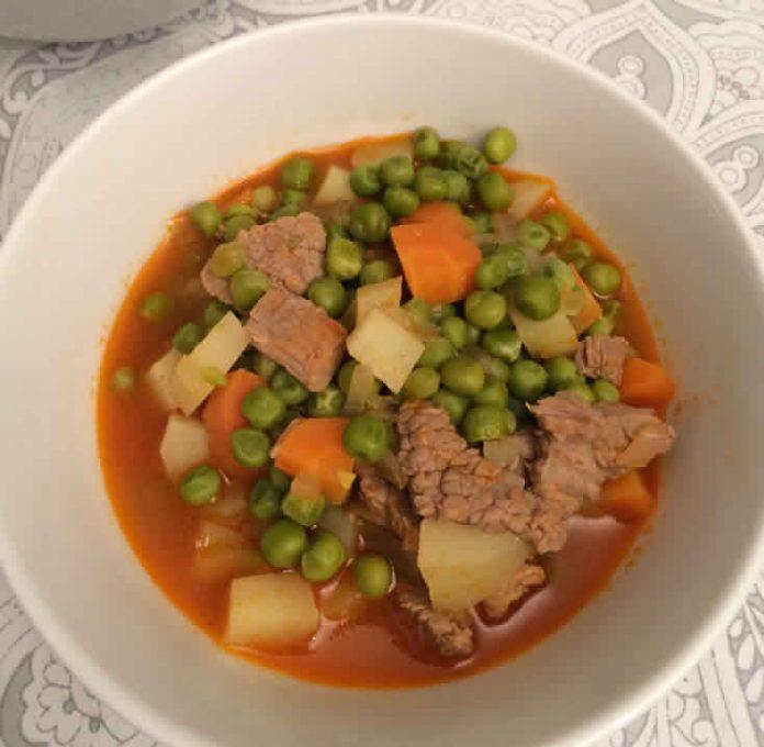 Viande aux petits pois et carottes cookeo