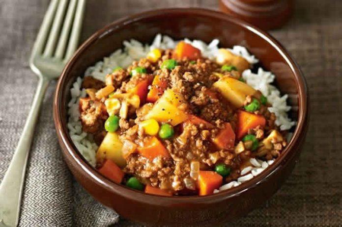 Viande hachée au légumes de terre cookeo