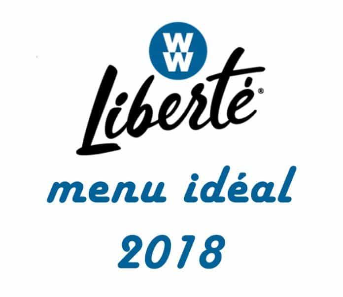 Weight Watchers Liberté 2018 - votre menu idéal