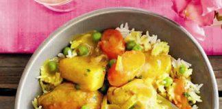 Blancs de poulet aux pomme de terre et sauce curry cookeo