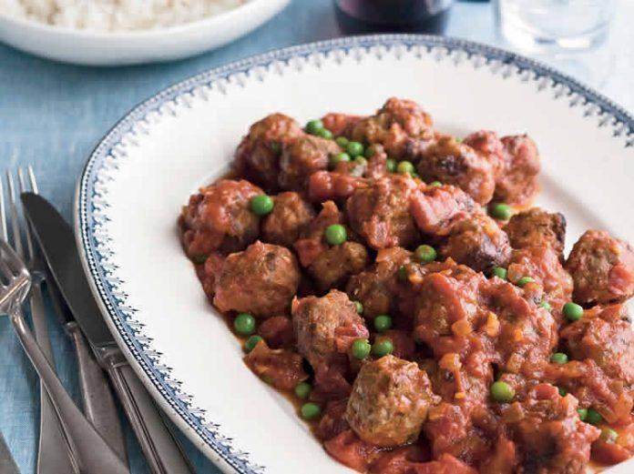 Boulettes de viande aux petits pois et carotte cookeo