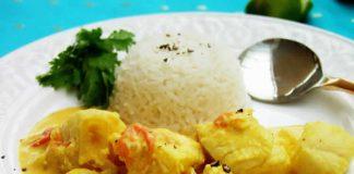 Cabillaud au sauce curry cookeo