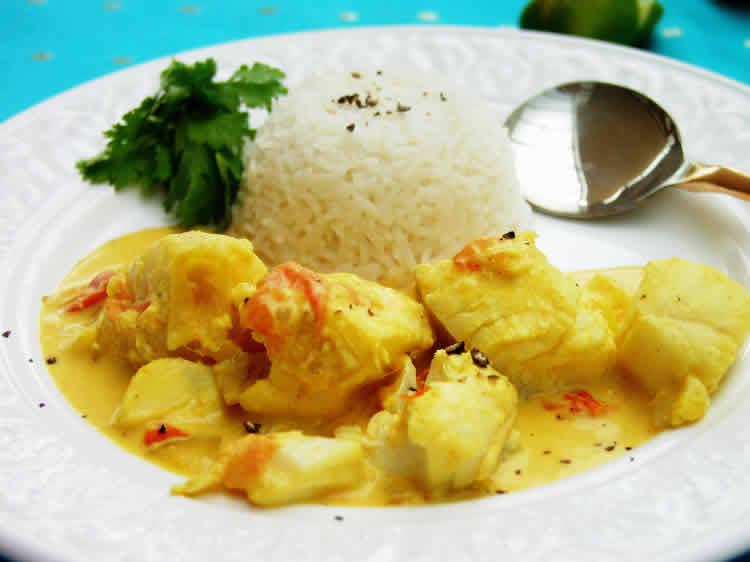 Cabillaud au sauce curry cookeo - recette plat cookeo facile.