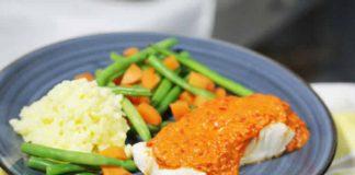 Cabillaud légumes et sauce de poivrons au thermomix