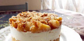 Cheesecake aux pommes sautées