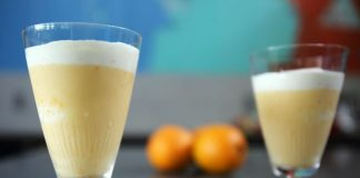 Cocktail orange et lait au thermomix