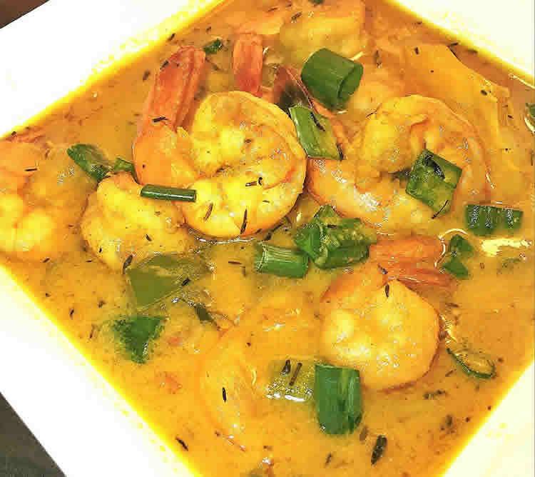 Crevettes au curry et lait de coco cookeo
