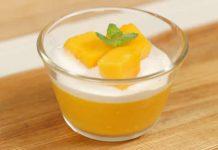 Gelée de la mangue à la crème