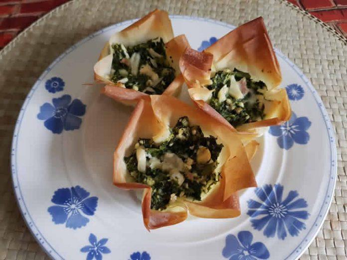 Muffin pâte aux épinards et fromage au thermomix