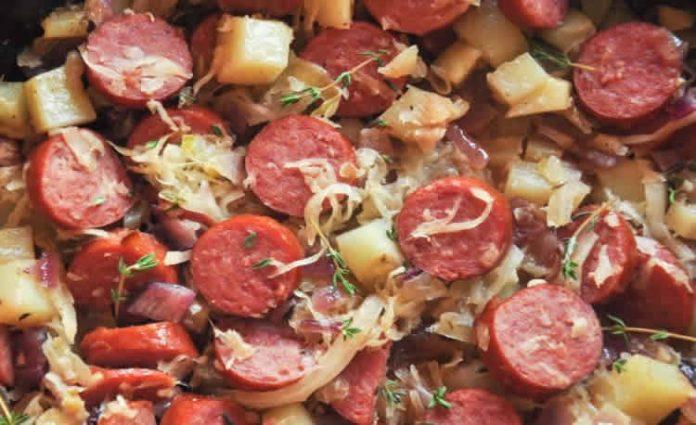 Pommes de terre aux saucisses fum es cookeo recette cookeo - Cuisiner des saucisses fumees ...