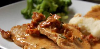 Porc à la sauce tomates et crème fraîche cookeo
