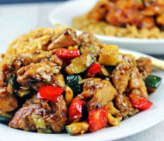 Poulet aux courgette et poivron cookeo