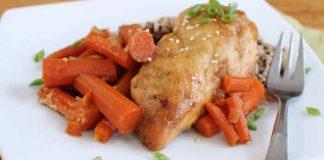 Poulet entier aux carottes cookeo