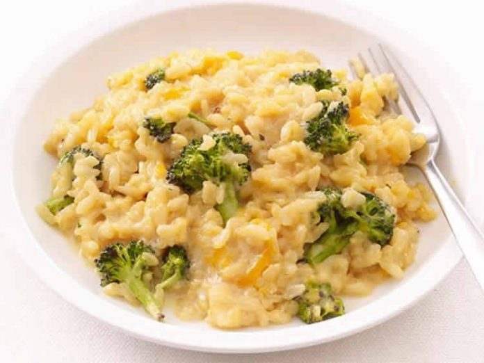 Risotto au brocoli et cheddar cookeo