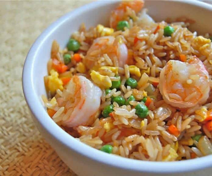 Riz aux crevettes et carottes cookeo
