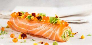 Roulé de saumon farci de mousse de poisson au thermomix